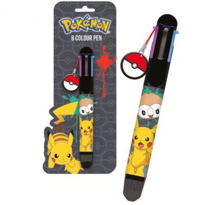 Caneta de 8 Cores Pokemon