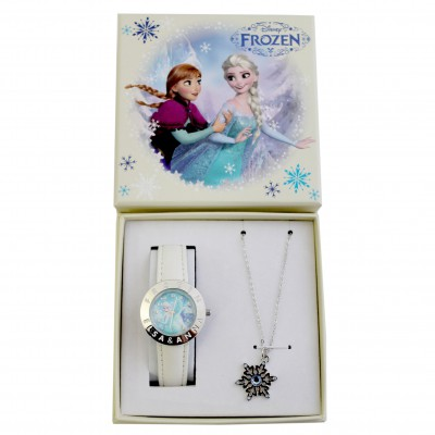 Conjunto Relógio e Colar Frozen