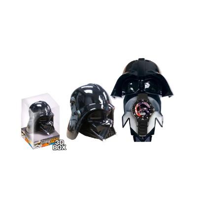 Relógio Analógico em Caixa 3D Darth Vader Sw