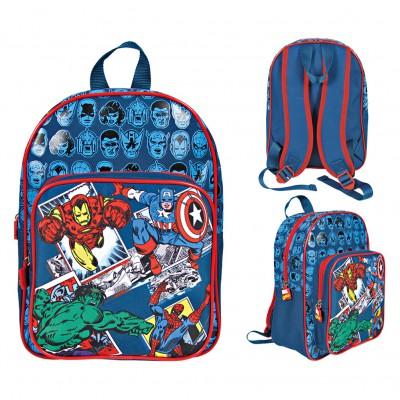 Mochila de Infantário com Bolso Avengers